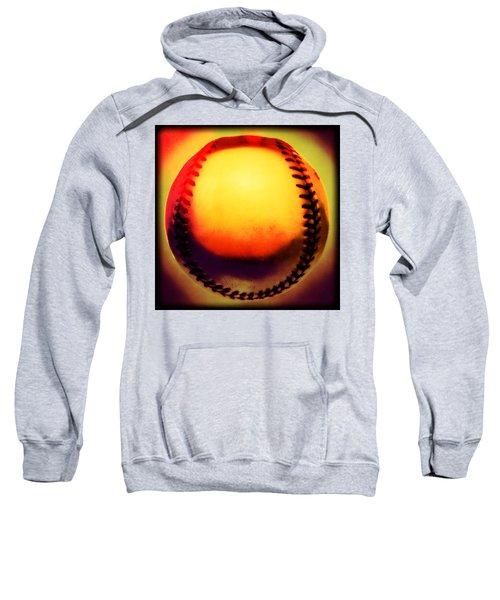 Red Hot Baseball Sweatshirt by Yo Pedro