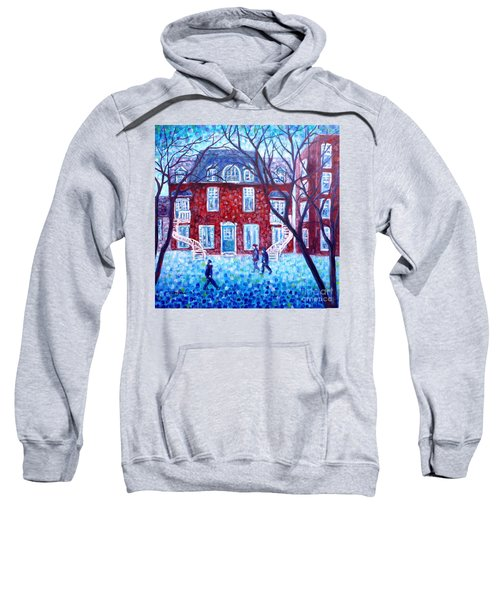 Red House In Montreal - Cityscape Sweatshirt