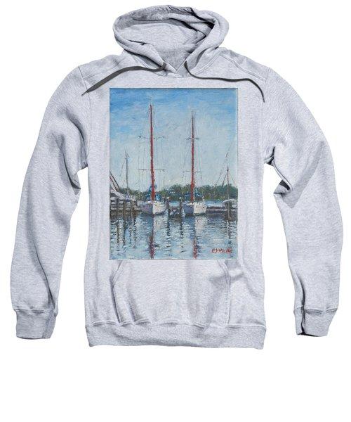 Red Sails Under Gray Sky Sweatshirt