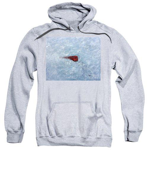 Red Train Braving The Winter Sweatshirt