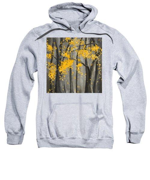 Rejuvenating Elements- Yellow And Gray Art Sweatshirt