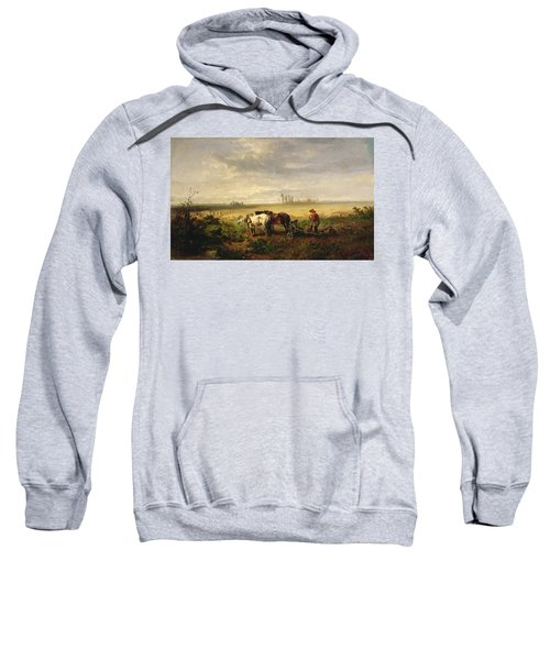 Resting Oil On Canvas Sweatshirt