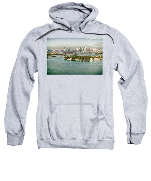 Retro Style Miami Skyline And Biscayne Bay Sweatshirt