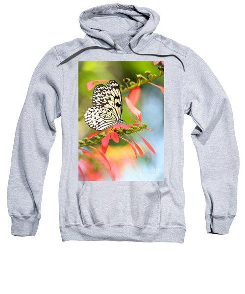 Rice Paper Butterfly In The Garden Sweatshirt