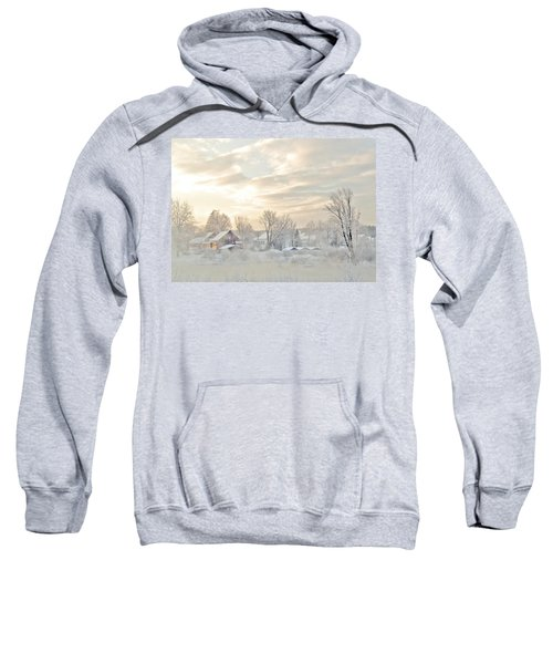 River Mist On A Very Cold New Hampshire Morning Sweatshirt