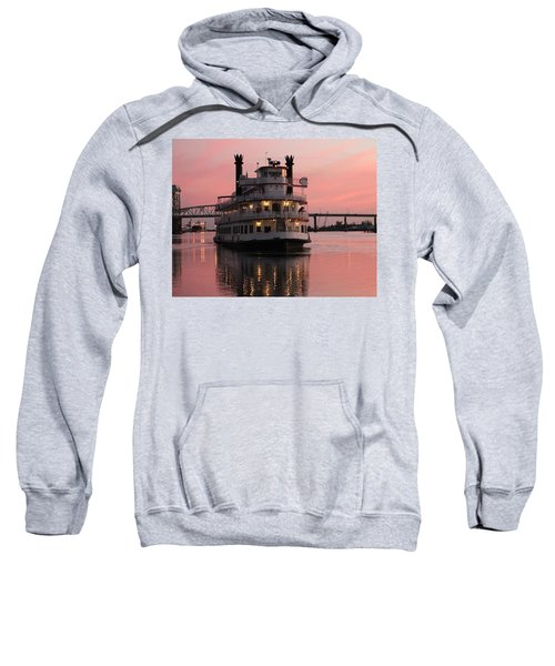 Riverboat At Sunset Sweatshirt
