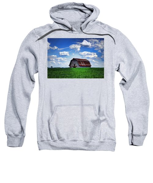 Riverbottom Barn Against The Sky Sweatshirt