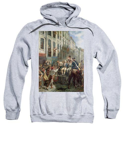 Robespierre 1758-94 And Saint-just 1767-94 Leaving For The Guillotine, 28th July 1794, 1884 Oil Sweatshirt