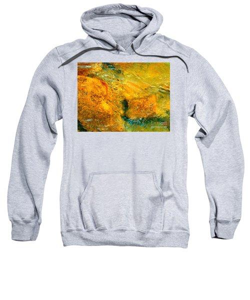 Rocks Under The Stream By Christopher Shellhammer Sweatshirt