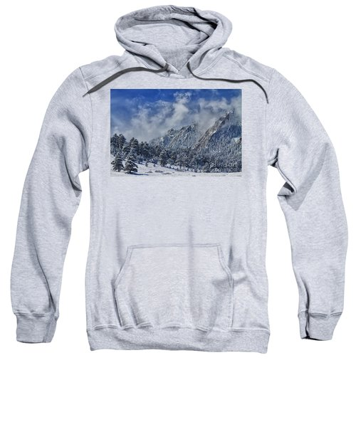 Rocky Mountain Dusting Of Snow Boulder Colorado Sweatshirt