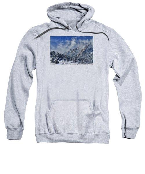 Rocky Mountain Dusting Of Snow Boulder Colorado Sweatshirt