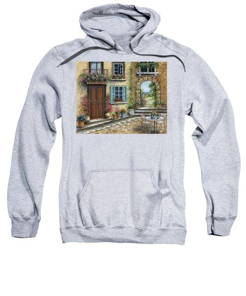 Romantic Tuscan Courtyard Sweatshirt