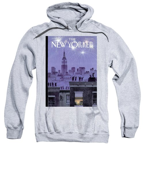 Rooftop Revelers Celebrate New Year's Eve Sweatshirt