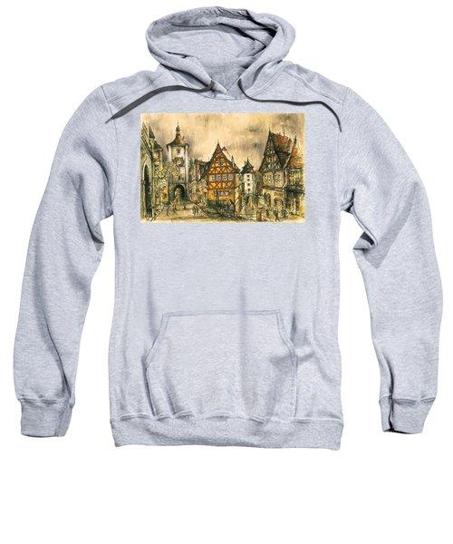 Rothenburg Bavaria Germany - Romantic Watercolor Sweatshirt
