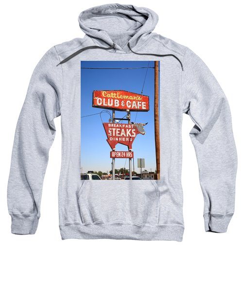 Route 66 - Cattleman's Club And Cafe Sweatshirt