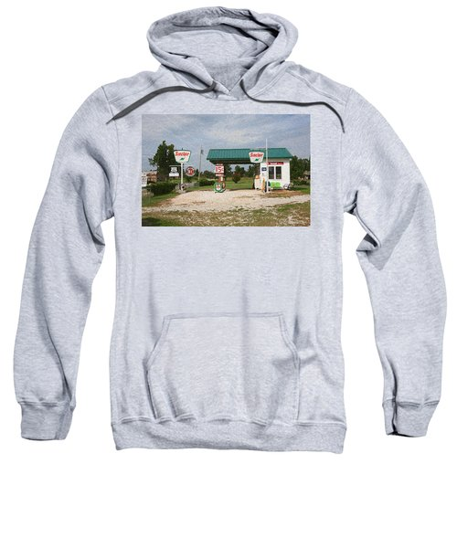 Route 66 Gas Station With Sponge Painting Effect Sweatshirt