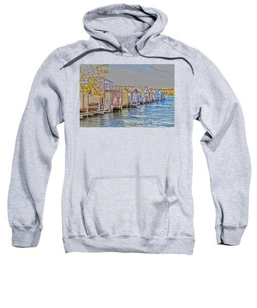 Row Of Boathouses Sweatshirt