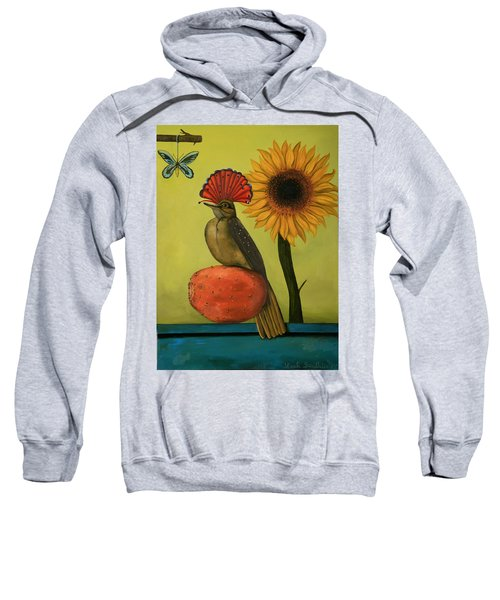 Royal Flycatcher  Sweatshirt by Leah Saulnier The Painting Maniac