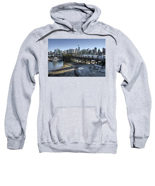 Sweatshirt featuring the photograph Royal Vancouver Yacht Club by Ross G Strachan