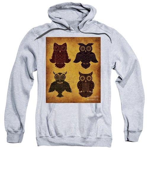 Rustic Aged 4 Owls Sweatshirt