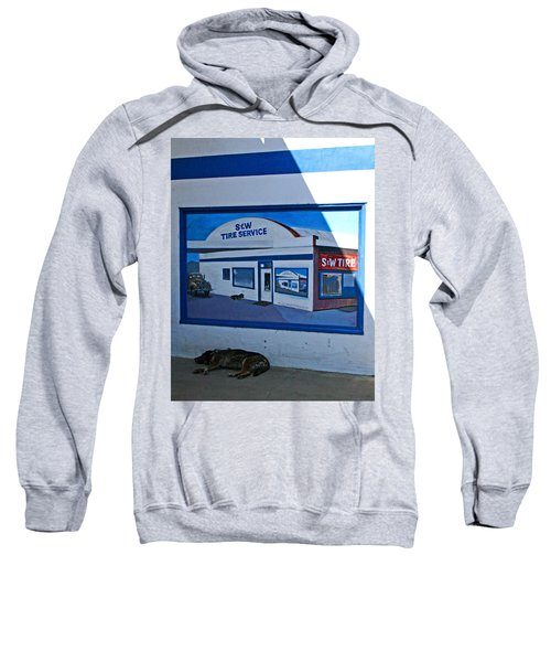 S And W Tire Service Mural Sweatshirt