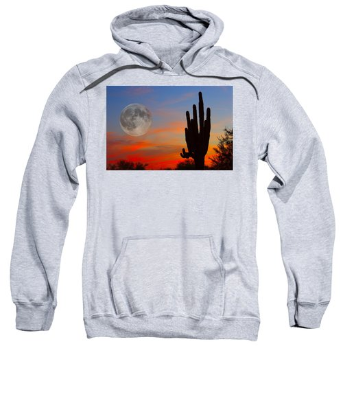 Saguaro Full Moon Sunset Sweatshirt by James BO  Insogna