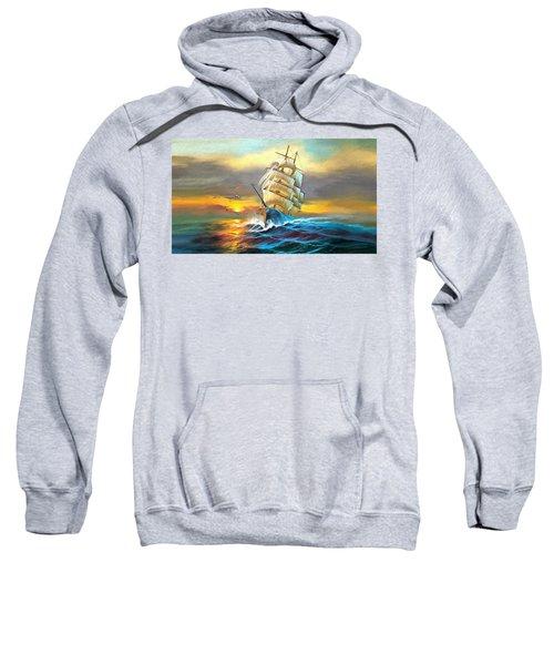 Sail Boat Full Sails Sweatshirt