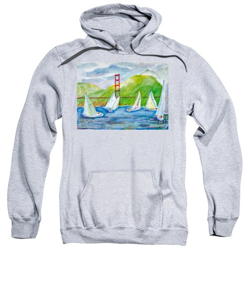 Sailboat Race At The Golden Gate Sweatshirt