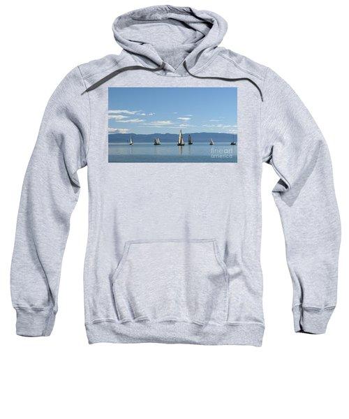 Sailboats In Blue Sweatshirt