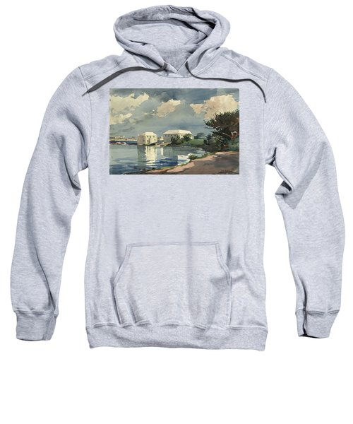 Sweatshirt featuring the painting Salt Kettle Bermuda by Winslow Homer