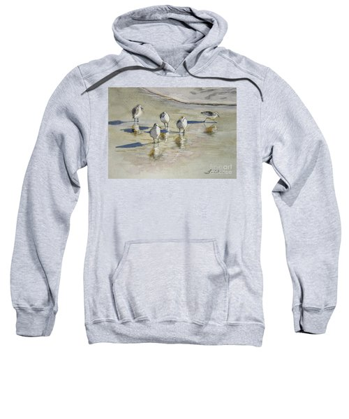 Sandpipers 2 Watercolor 5-13-12 Julianne Felton Sweatshirt