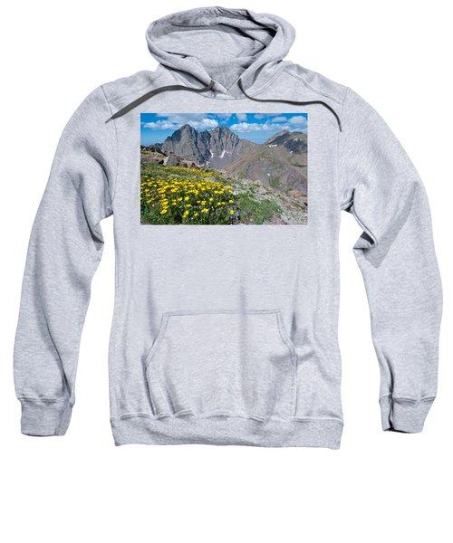 Sangre De Cristos Crestone Peak And Wildflowers Sweatshirt