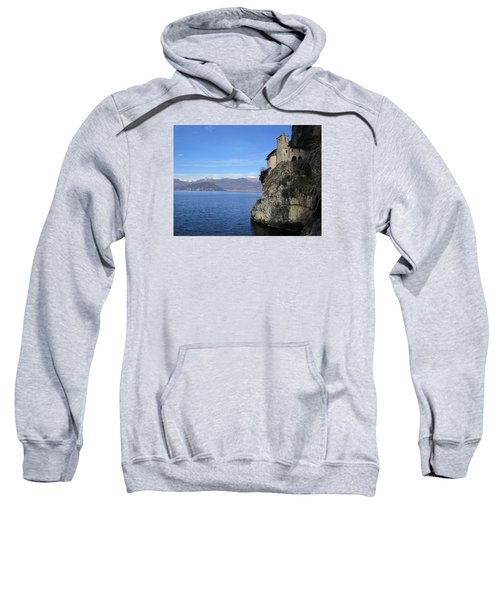 Sweatshirt featuring the photograph Santa Caterina - Lago Maggiore by Travel Pics