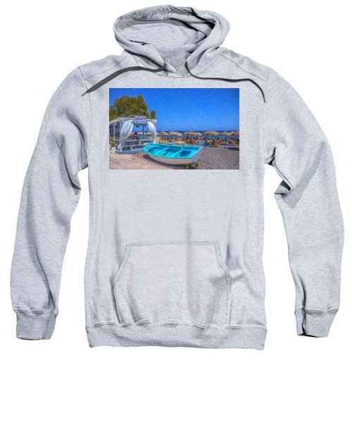 Santorini Beach Boat Grk4151 Sweatshirt