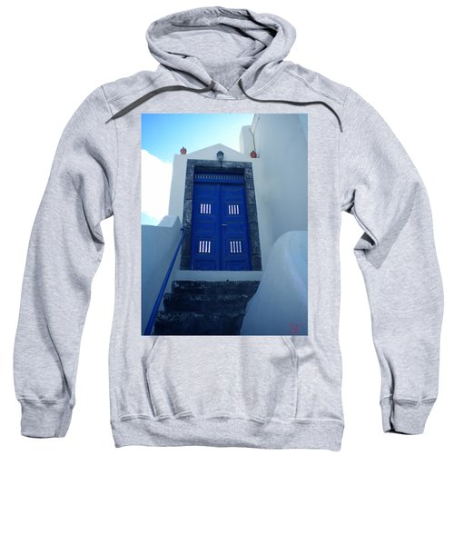 Santorini Door  To Heaven  Sweatshirt