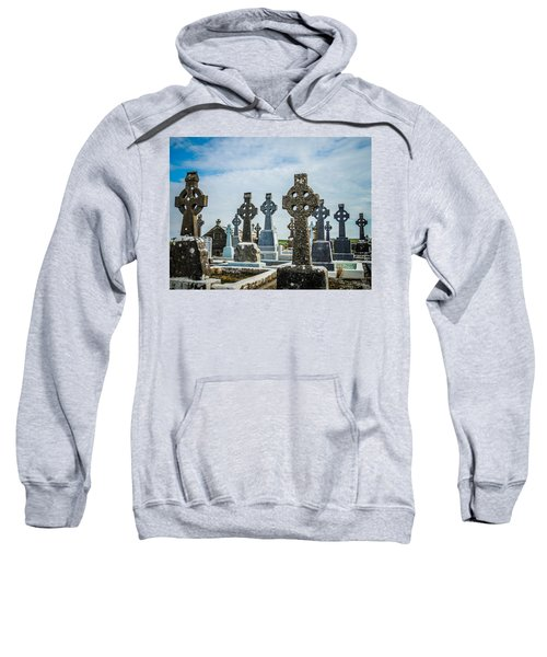 Sweatshirt featuring the photograph Sea  Of Celtic Crosses by James Truett
