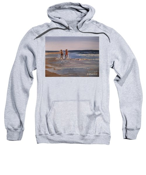Sea Splashing On The Beach Sweatshirt