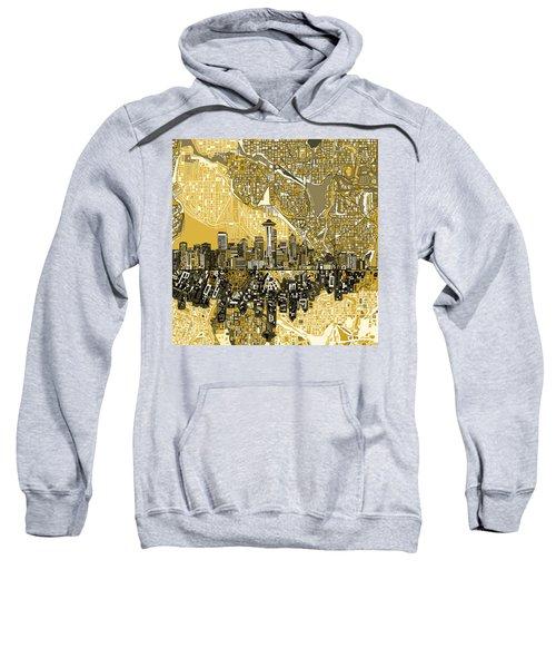 Seattle Skyline Abstract 2 Sweatshirt