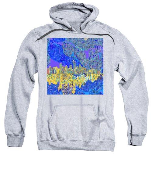 Seattle Skyline Abstract 6 Sweatshirt