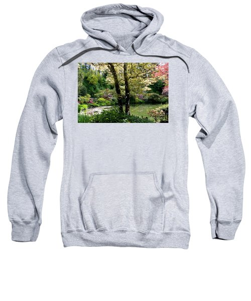 Serene Garden Retreat Sweatshirt