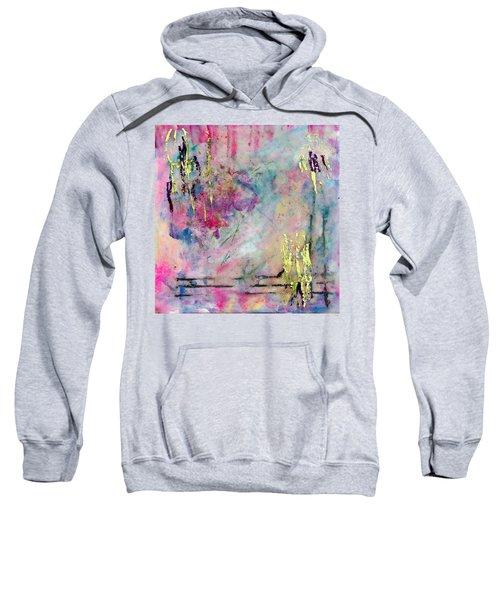 Serene Mist Encaustic Sweatshirt by Bellesouth Studio