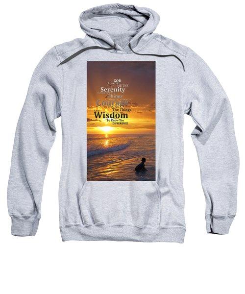 Serenity Prayer With Sunset By Sharon Cummings Sweatshirt