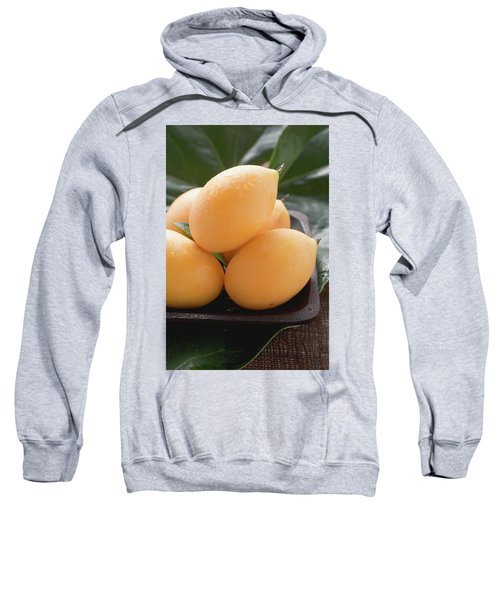 Several Loquats With Drops Of Water Sweatshirt