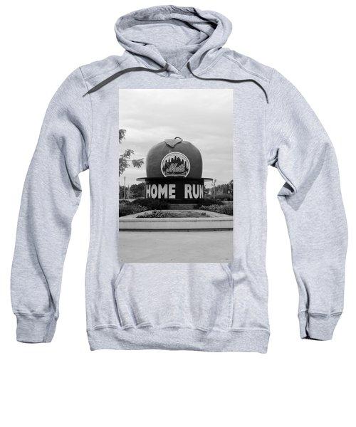 Shea Stadium Home Run Apple In Black And White Sweatshirt