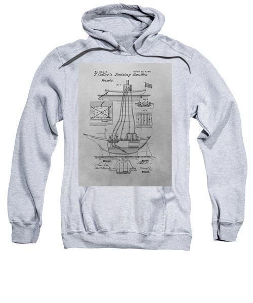 Shipwreck Recovery Patent Drawing Sweatshirt