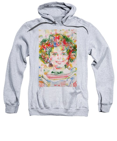Shirley Temple - Watercolor Portrait.1 Sweatshirt