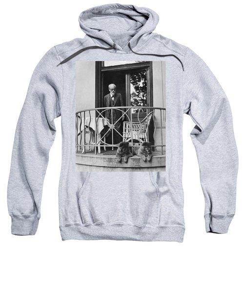 Sigmund Freud With His Chows Sweatshirt