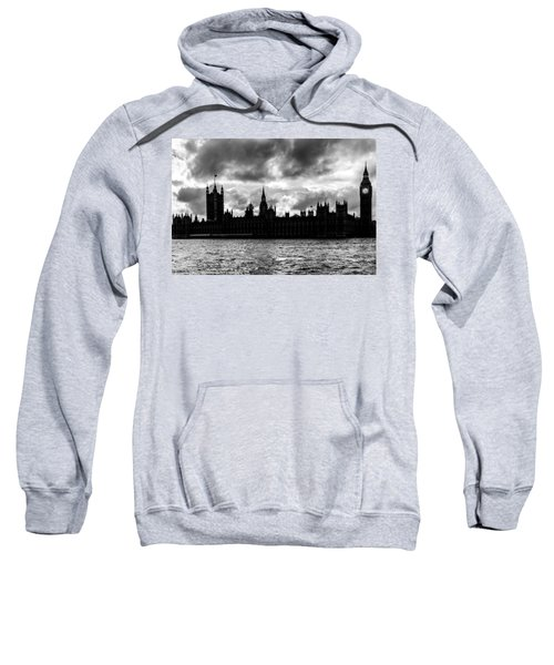 Silhouette Of  Palace Of Westminster And The Big Ben Sweatshirt