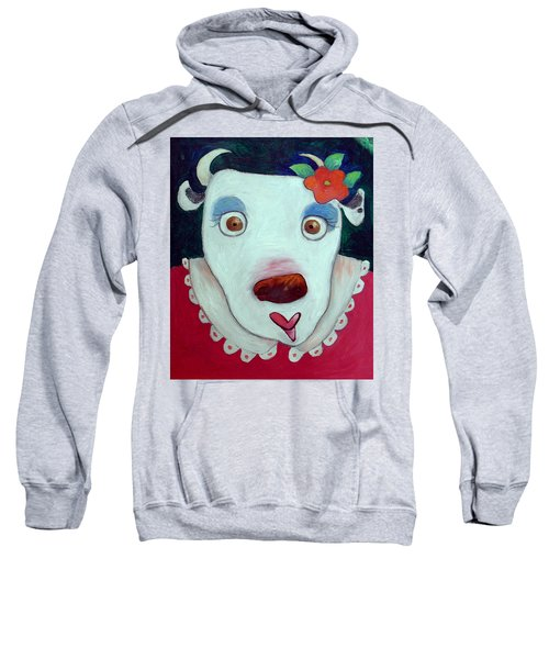 Silly Cow Oil On Canvas Sweatshirt