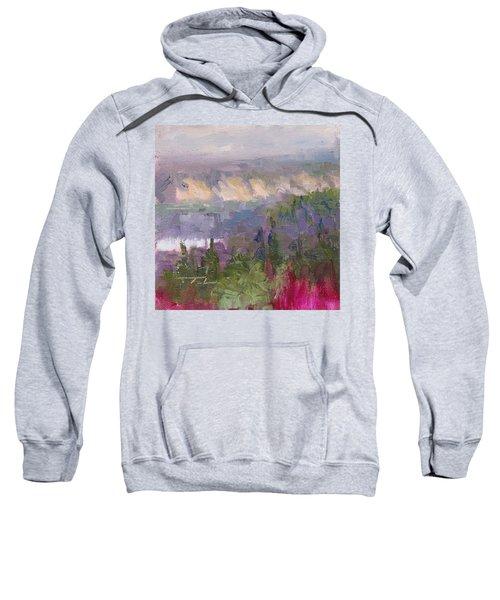 Silver And Gold - Matanuska Canyon Cliffs River Fireweed Sweatshirt